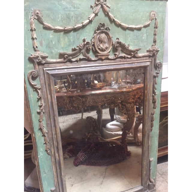 Late 18th Century Italian Green & Gold Mirror For Sale - Image 11 of 12