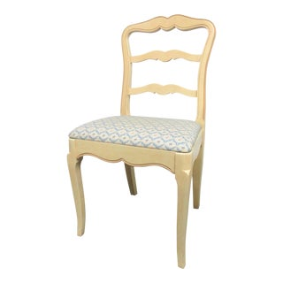 French Style Custom Painted Side Chair For Sale
