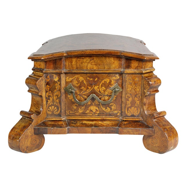 Dutch Rococo Walnut and Marquetry Document Box For Sale - Image 4 of 13