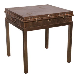 "Ede Sons and Ravenscroft Edwardian Court Tailor ""Robe"" Steel Storage Table For Sale"