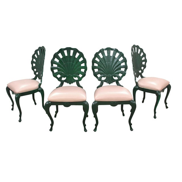 """1950s Vintage Venman Furniture Aluminum """"Grotto"""" Shell Chairs - a Set of 4 For Sale - Image 11 of 11"""
