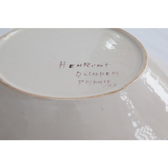 Antique French Quimper Plates - a Pair For Sale - Image 9 of 10