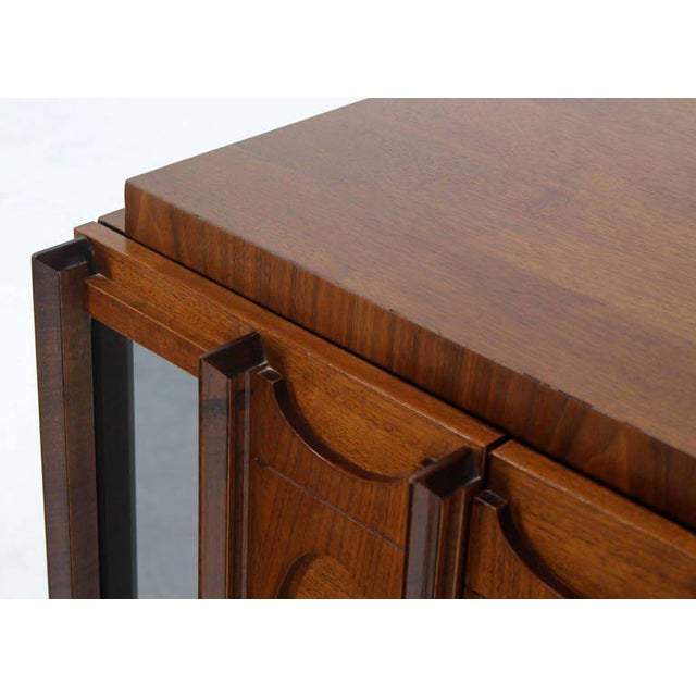 1960s Mid-Century Modern Oiled Walnut Night Stand or End Table For Sale - Image 5 of 10