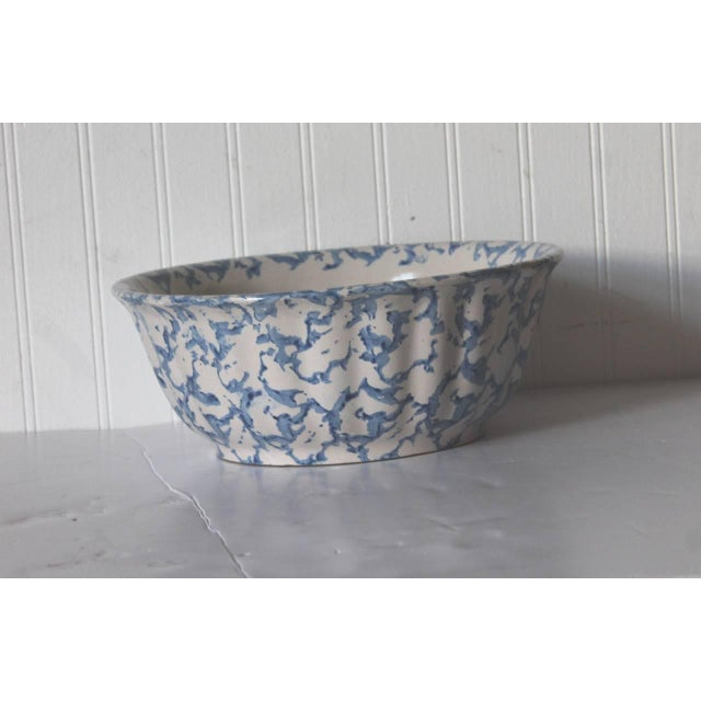 This most unusual shaped 19th century sponge ware bowl has a wonderful fluted shape and makes a great serving bowl or...