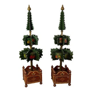 Pair Of Painted Wood Hall Trees, Germany 1909 For Sale