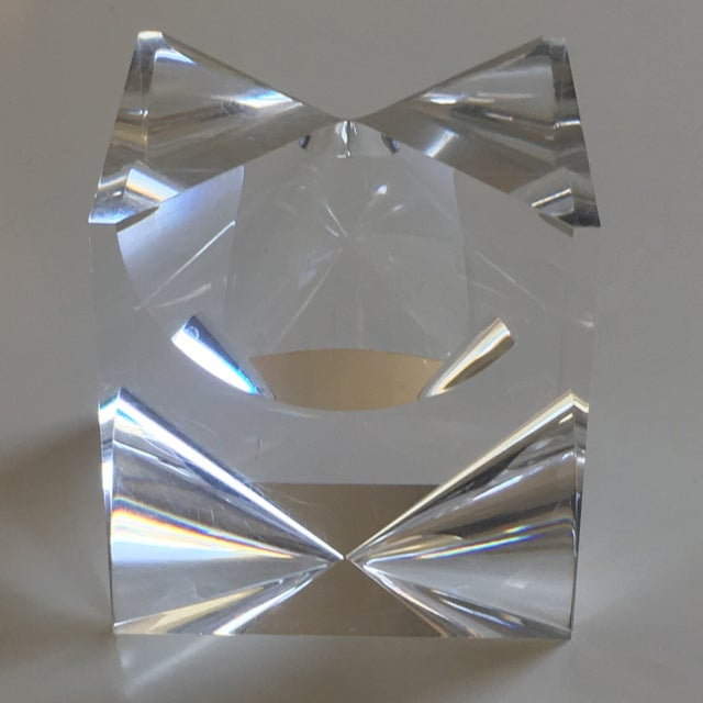 Alessio Tasca 1960s Mid-Century Modern Alessio Tasca Lucite Cube Sculpture For Sale - Image 4 of 11