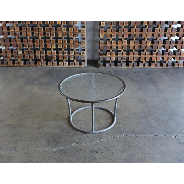 Bronze and Pebble Glass Side Table by Kipp Stewart for Terra Circa 1965 For Sale - Image 9 of 9