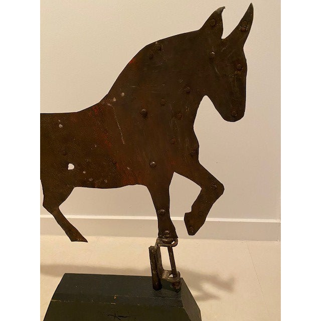Early 20th Century Early 20th Century Antique Horse Weather Vane For Sale - Image 5 of 6
