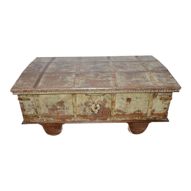 Vintage Curved Top Chest Trunk For Sale