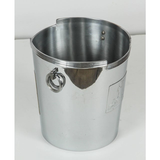 1930s Art Deco American Chrome Champagne Ice Bucket For Sale - Image 5 of 7