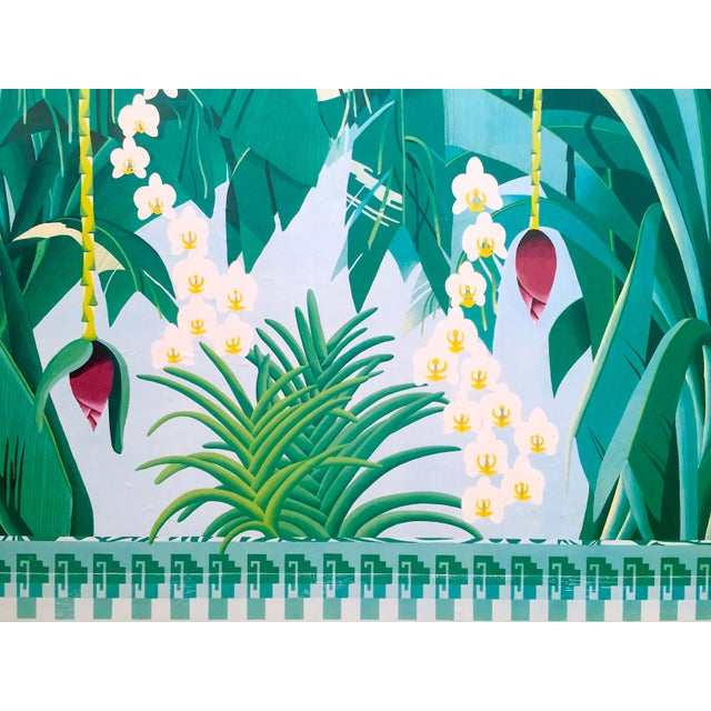 """Vintage 1980 """" Gary Shaw Key West """" Tropical Botanical Lithograph Print Framed Exhibition Poster For Sale In Kansas City - Image 6 of 13"""