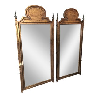 Mid-Century Copper Framed Mirrors - A Pair