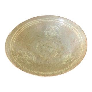 Korean Ceramic Celadon Bowl with Slip Inlay Goryeo Dynasty For Sale