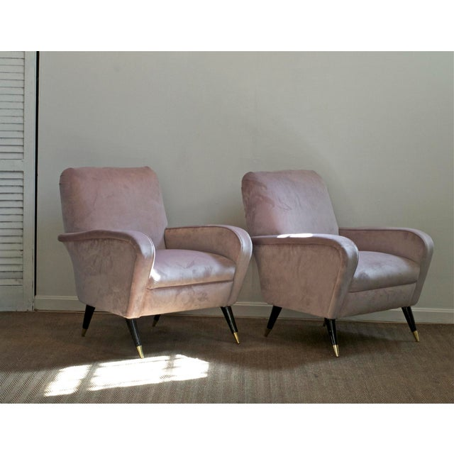 Luxe Lounge Chairs in Lilac For Sale - Image 4 of 11