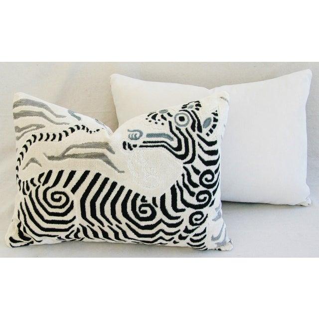 Clarence House Tibet Dragon Fabric Pillows - Pair - Image 10 of 11