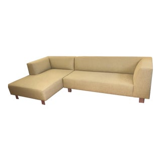 Room & Board Custom Cream Upholstered Two Piece Sectional