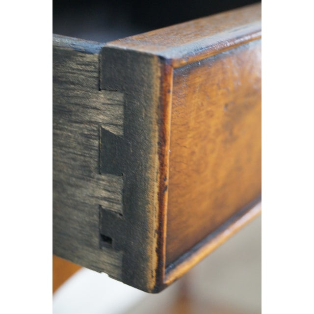 Yorkshire House Small Burl Wood 2 Drawer Console Table For Sale In Philadelphia - Image 6 of 10