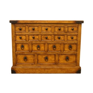 20th Century Country Hekman Furniture Low Chest of Drawers For Sale