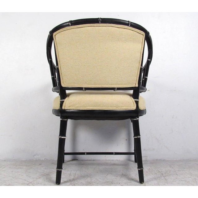 Mid-Century Modern Bamboo Style Dining Chairs- Set of 4 For Sale In New York - Image 6 of 10