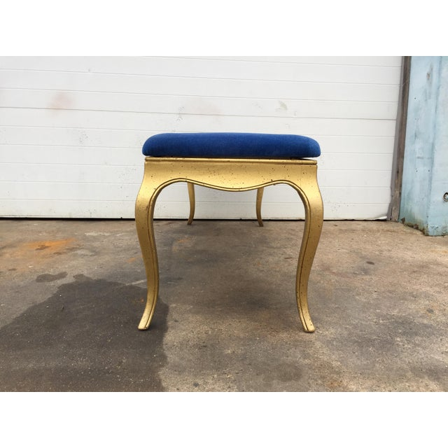 Hollywood Regency Style Gold Gilt Bench - Image 5 of 7