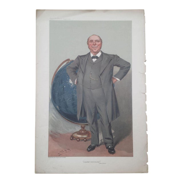1905 Original Vanity Fair Scientist Print by Sir Robert Ball - Image 1 of 4