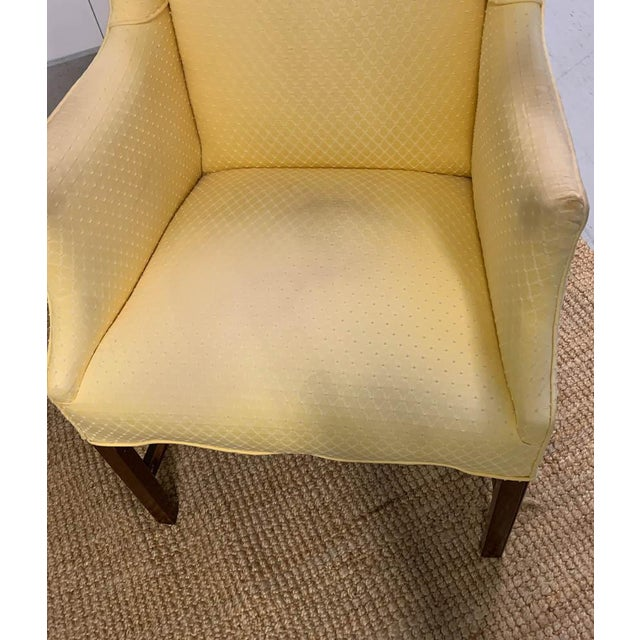Fabric Pair, Vintage Wingback Chairs For Sale - Image 7 of 9