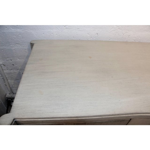 Metal Paul Frankl for Brown Saltman Credenza in White Wash Finish For Sale - Image 7 of 11