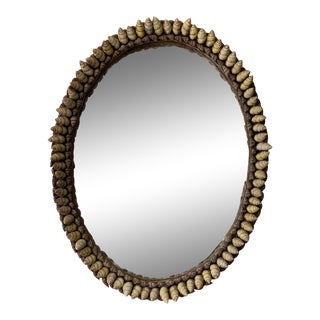 1970's Vintage Anthony Redmile Seashell Shell Oval Mirror For Sale