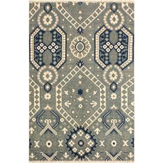 Ezyln Modern Arletha Gray/Ivory Wool & Viscouse Rug - 4'1 X 6'6 For Sale