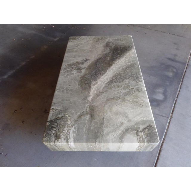 Italian Faux-Marble Rectangular Coffee Table C. 1970s For Sale In Palm Springs - Image 6 of 12