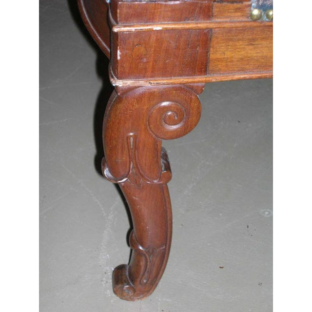 Mohair Restauration Period Armchair For Sale - Image 7 of 11