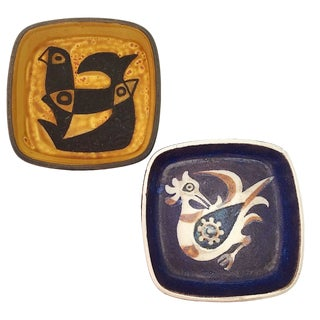1960s Danish Modern Royal Copenhagen Baca Series Ashtrays - a Pair