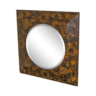 Maitland Smith Faux Painted Decorative Wall Mirror For Sale