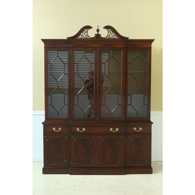 Kittinger Richmond Hill Collection Mahogany Breakfront For Sale - Image 13 of 13