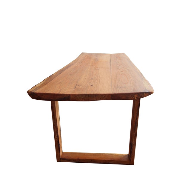 Live Edge Oak Table - Image 4 of 4