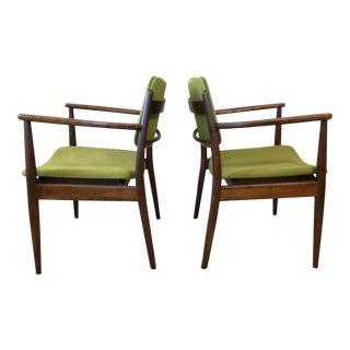 Danish Modern Wood Side Chairs: A Pair