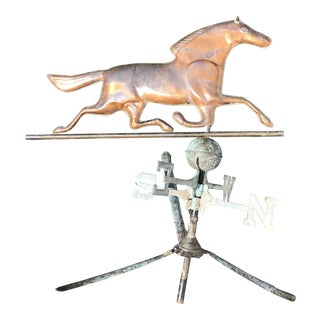 Antique Copper Horse Weathervane For Sale