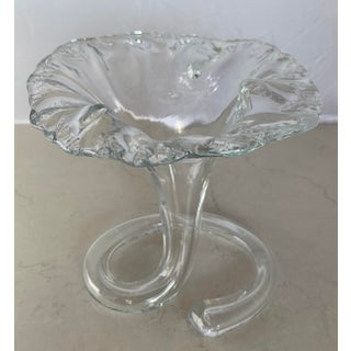 Clear Art Glass Trumpet Vase Preview