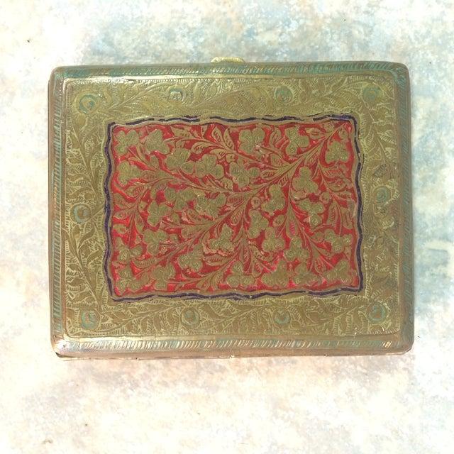 Antique Brass Cigarette Case - Image 2 of 5