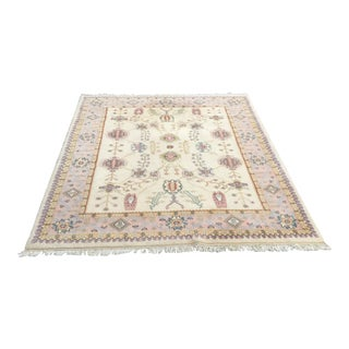 Tree of Life Persian Grey & Pink Rug - 8′ × 10′5″ For Sale