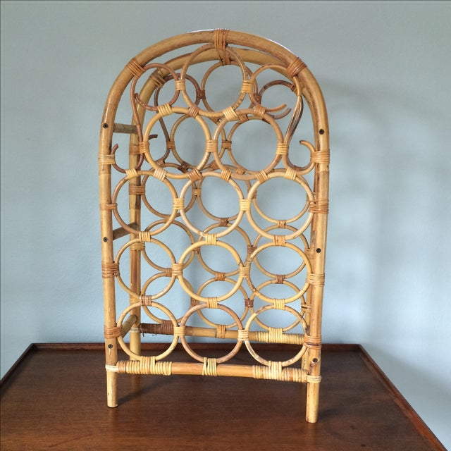 Vintage Bamboo Wine Rack - Image 2 of 11