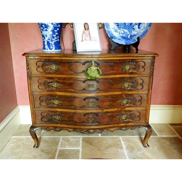 Wood French Style Commode or Chest of Drawers, 20th Century For Sale - Image 7 of 8