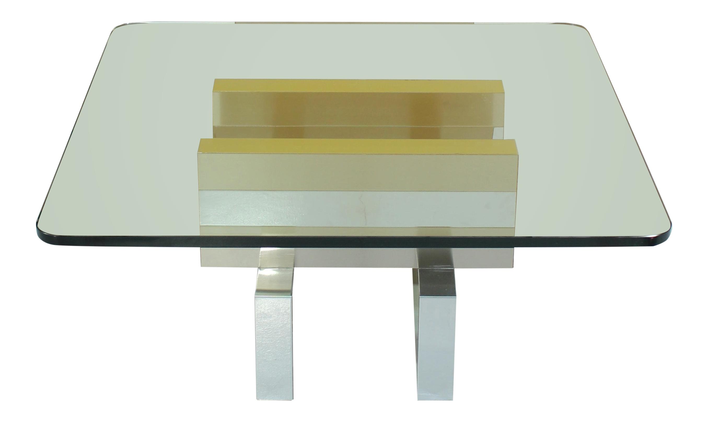 Paul Evans U201cCityscapeu201d Style Chrome Coffee Table