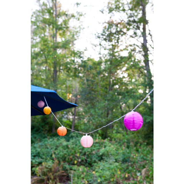2020s Glow Outdoor Solar String Lights in Peach Bellini For Sale - Image 5 of 9