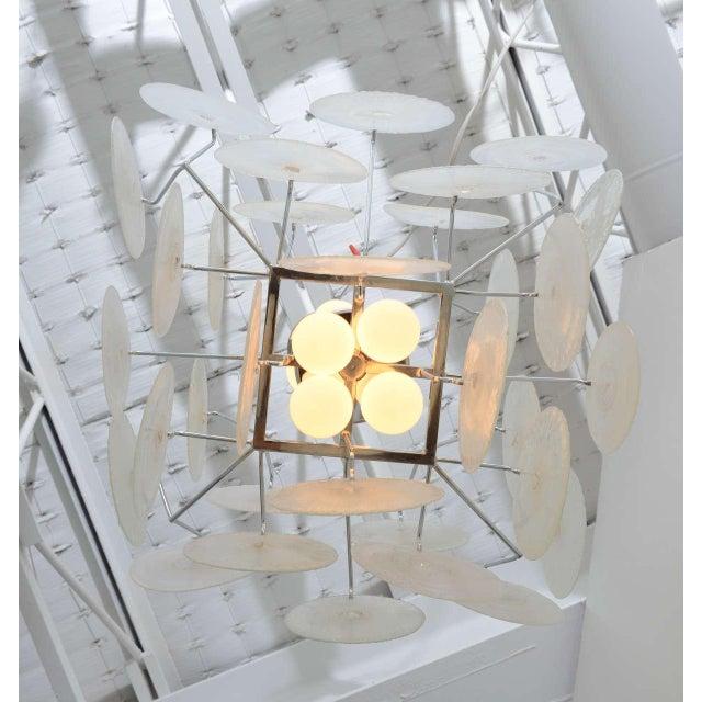 Vistosi Iridescent Disc Chandelier For Sale - Image 9 of 10