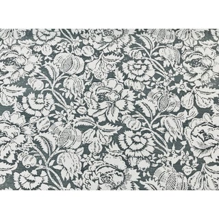 Bennison All Over Floral Negative Linen Designer Fabric by the Yard For Sale