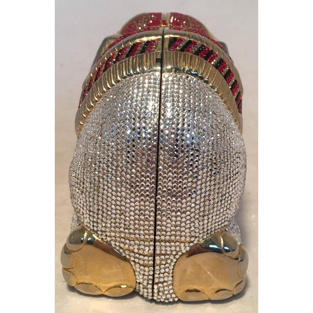 Metal Rare Judith Leiber Swarovski Crystal Elephant Minaudiere Evening Bag Clutch For Sale - Image 7 of 10