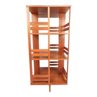 Mid-Century Modern Danish Teak Revolving Bookshelf For Sale