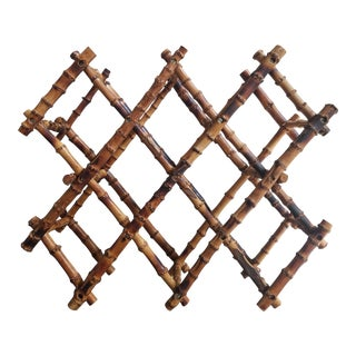 Saks 5th Ave Vintage Bamboo Wine Rack