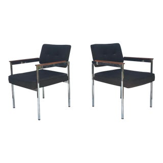 Pair Mid-Century Side Chairs for Shaw Walker For Sale